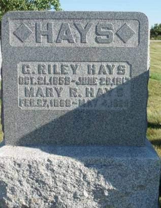 HAYS, MARY ROSETTA - Madison County, Iowa | MARY ROSETTA HAYS