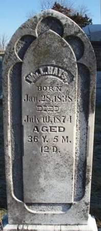 HAYS, WILLIAM L. - Madison County, Iowa | WILLIAM L. HAYS