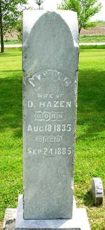 HAZEN, MARY LOUSIA - Madison County, Iowa | MARY LOUSIA HAZEN