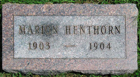 HENTHORN, MARION D. - Madison County, Iowa   MARION D. HENTHORN