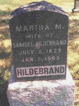 HILDEBRAND, MARTHA MATILDA - Madison County, Iowa   MARTHA MATILDA HILDEBRAND