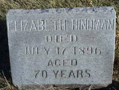 HINDMAN, ELIZABETH - Madison County, Iowa   ELIZABETH HINDMAN
