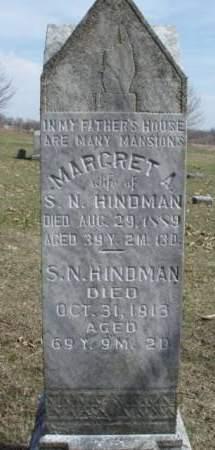 HINDMAN, MARGARET A. - Madison County, Iowa | MARGARET A. HINDMAN