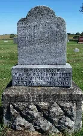 HOCKETT, MARY JANE - Madison County, Iowa | MARY JANE HOCKETT