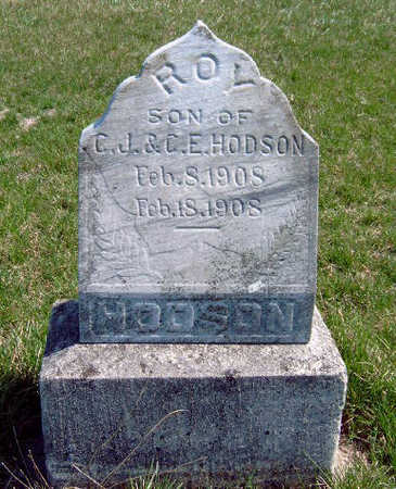 HODSON, ROY R - Madison County, Iowa   ROY R HODSON