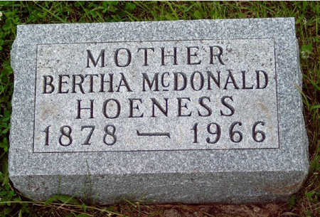 HOENESS, BERTHA ELEANOR - Madison County, Iowa | BERTHA ELEANOR HOENESS