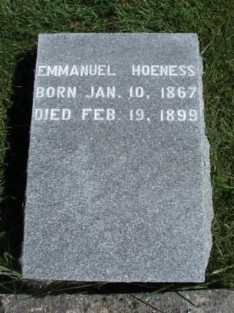 HOENESS, EMMANUEL - Madison County, Iowa | EMMANUEL HOENESS