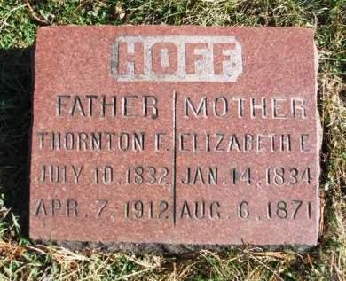 HOFF, THORTON FLEMING - Madison County, Iowa | THORTON FLEMING HOFF