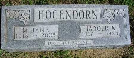 HOGENDORN, HAROLD KEITH - Madison County, Iowa | HAROLD KEITH HOGENDORN