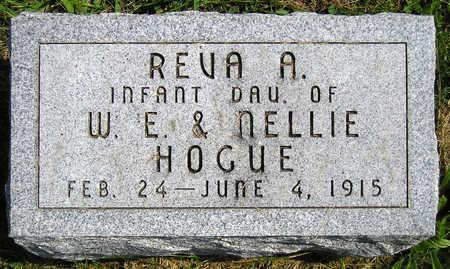 HOGUE, REVA A. - Madison County, Iowa | REVA A. HOGUE