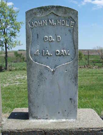 HOLE, JOHN MILLS - Madison County, Iowa   JOHN MILLS HOLE