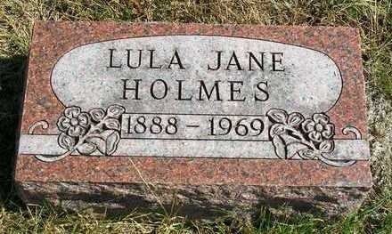 HOLMES, LULA JANE (JENNIE) - Madison County, Iowa | LULA JANE (JENNIE) HOLMES