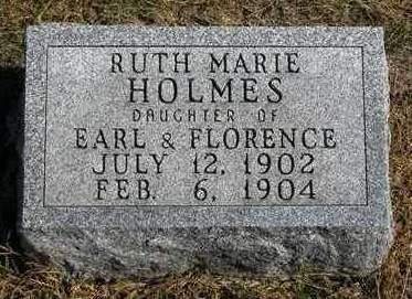 HOLMES, RUTH MARIE - Madison County, Iowa   RUTH MARIE HOLMES