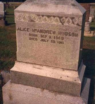 HUDSON, ALICE - Madison County, Iowa | ALICE HUDSON