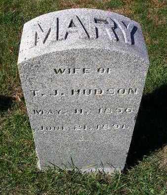 HUDSON, MARY F. - Madison County, Iowa   MARY F. HUDSON