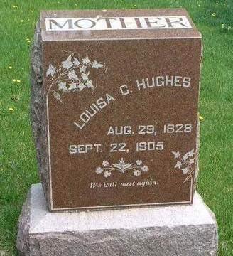 HUGHES, LOUISA CAROLINE - Madison County, Iowa   LOUISA CAROLINE HUGHES