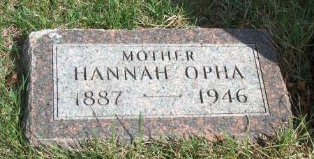 HUSTON, HANNAH OPHA - Madison County, Iowa   HANNAH OPHA HUSTON
