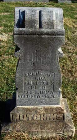 HUTCHINS, ANNIE - Madison County, Iowa   ANNIE HUTCHINS