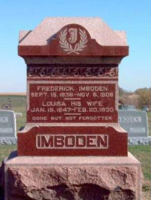 IMBODEN, FREDRICK - Madison County, Iowa | FREDRICK IMBODEN
