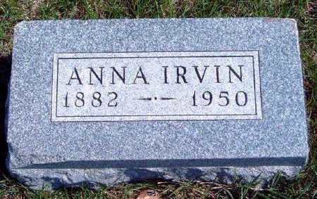 IRVIN, ANNA A. - Madison County, Iowa | ANNA A. IRVIN