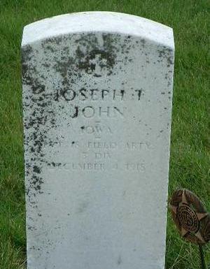 JOHN, JOSEPH THOMAS - Madison County, Iowa | JOSEPH THOMAS JOHN