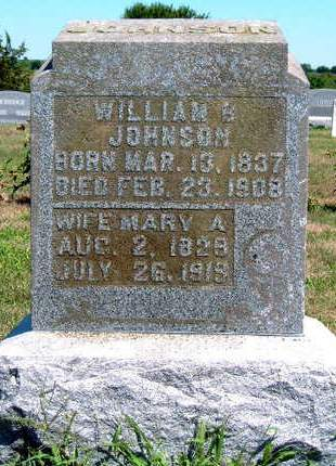 JOHNSON, WILLIAM B. - Madison County, Iowa   WILLIAM B. JOHNSON