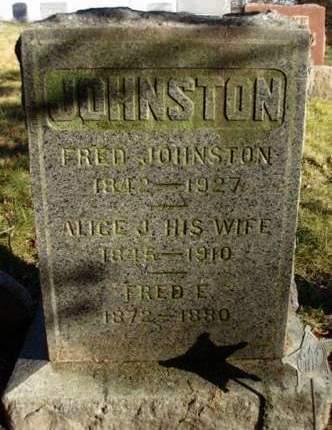 JOHNSTON, ALICE JANE - Madison County, Iowa | ALICE JANE JOHNSTON