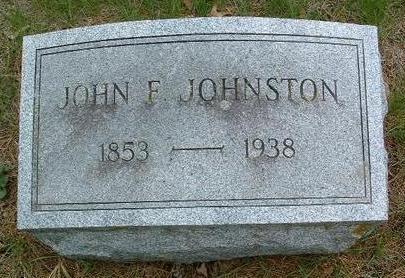 JOHNSTON, JOHN FRANCIS - Madison County, Iowa   JOHN FRANCIS JOHNSTON