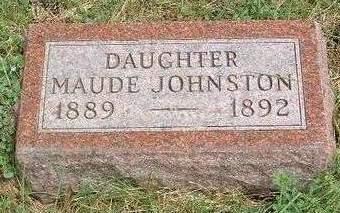 JOHNSTON, MAUDE - Madison County, Iowa   MAUDE JOHNSTON
