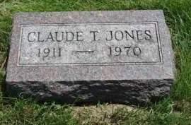 JONES, CLAUDE THEODORE - Madison County, Iowa   CLAUDE THEODORE JONES