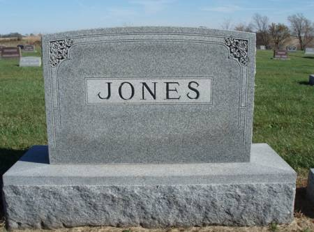 JONES, FAMILY STONE - Madison County, Iowa | FAMILY STONE JONES