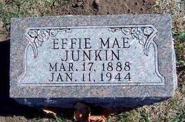 JUNKIN, EFFIE MAE - Madison County, Iowa | EFFIE MAE JUNKIN