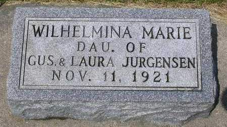 JURGENSEN, WILHELMINA MARIE - Madison County, Iowa | WILHELMINA MARIE JURGENSEN