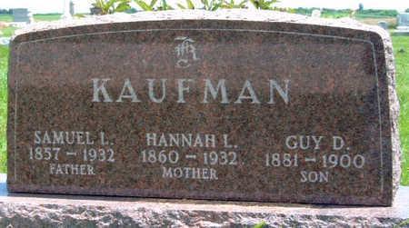KAUFMAN, HANNAH LOUISE - Madison County, Iowa   HANNAH LOUISE KAUFMAN