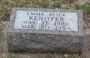 KENOYER, EMMA ALICE - Madison County, Iowa | EMMA ALICE KENOYER