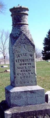 KENWORTHY, JESSE W.  (REV.) - Madison County, Iowa   JESSE W.  (REV.) KENWORTHY