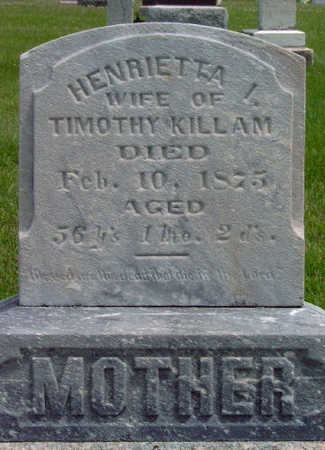 KILLAM, HENRIETTA - Madison County, Iowa | HENRIETTA KILLAM