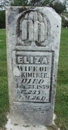 KIMERER, ELIZA - Madison County, Iowa | ELIZA KIMERER