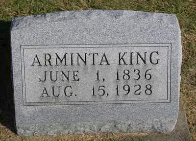 KING, ARMINTA - Madison County, Iowa   ARMINTA KING