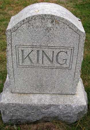 KING, FAMILY HEADSTONE - Madison County, Iowa   FAMILY HEADSTONE KING