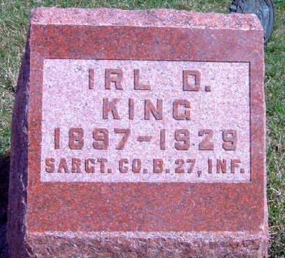 KING, IRL DAVID - Madison County, Iowa | IRL DAVID KING