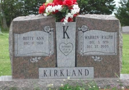 KIRKLAND, BETTY ANN - Madison County, Iowa   BETTY ANN KIRKLAND