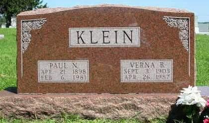 KLEIN, PAUL N. - Madison County, Iowa | PAUL N. KLEIN