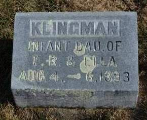 KLINGMAN, INFANT - Madison County, Iowa | INFANT KLINGMAN