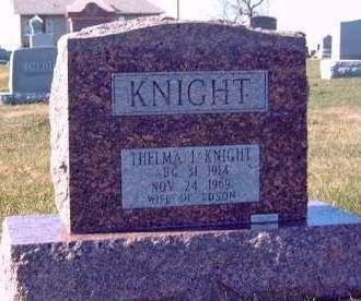 KNIGHT, THELMA I. - Madison County, Iowa | THELMA I. KNIGHT