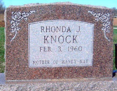 KNOCK, RHONDA J. - Madison County, Iowa   RHONDA J. KNOCK
