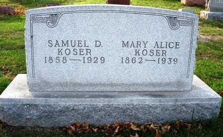 KOSER, MARY ALICE - Madison County, Iowa | MARY ALICE KOSER