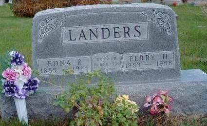 LANDERS, EDNA REBECKA - Madison County, Iowa | EDNA REBECKA LANDERS