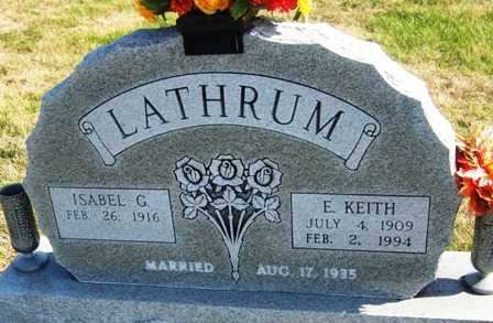 LATHRUM, ISABEL GLADYS - Madison County, Iowa | ISABEL GLADYS LATHRUM