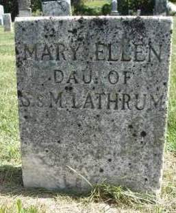 LATHRUM, MARY ELLEN - Madison County, Iowa | MARY ELLEN LATHRUM